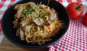 Agneau spaghetti