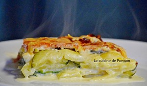 Gratin dauphinois et ses courgettes