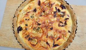 Tarte à la betterave rouge et fromage bleu