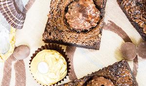 Brownies aux Ferrero Rocher