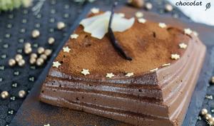 Entremet poire chocolat