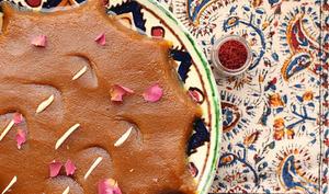 Halva iranien au safran et à la rose