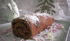 Biscuit roulé chocolat Nutella