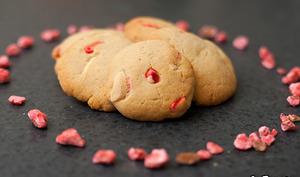 Cookies aux pralines roses et chocolat blanc