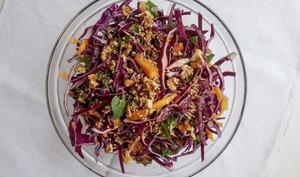 Salade rouge de l'hiver