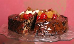 Christmas cake au rhum