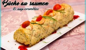 Bûche au saumon et aux crevettes