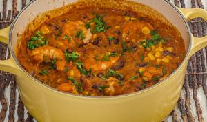 Githeri, mijoté de haricots rouges aux crevettes kenyan