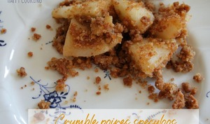 Crumble poires speculoos