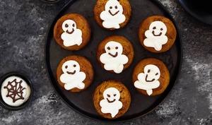Muffins fantômes à la courge et à l'huile de tournesol