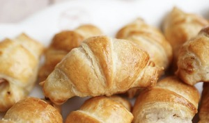 Mini croissants jambon béchamel