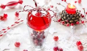 Cocktail de Noël aux cranberries sans alcool