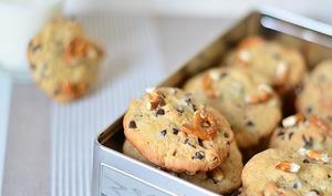 Cookies à la banane, bretzel et chocolat