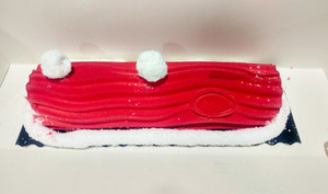 Bûche coco fruits rouges