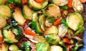Poêlée de choux de Bruxelles et carottes