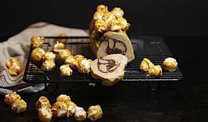 Foie gras au torchon au chocolat et popcorn