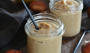 Compote pommes, châtaignes, amandes et vanille