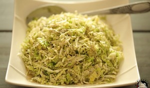 Salade suédoise au chou vert
