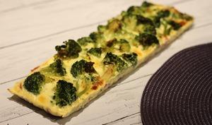 Quiche sans pâte brocolis et jambon