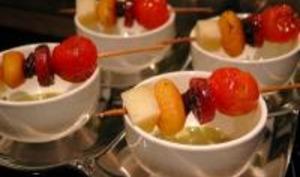 Brochettes Gnocchi, Chorizo, Tomates et Tome de Brebis