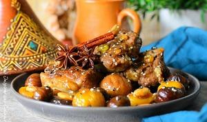 Tajine aux marrons sucré-salé