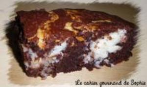 Brownie Marbré à la Noix de Coco