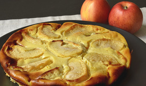 Gâteau à la ricotta et aux pommes