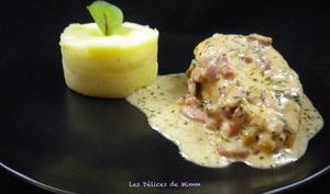 Filets de poulet aux lardons et au parmesan