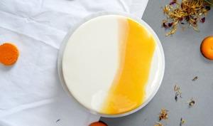 Entremets abricot et pistache