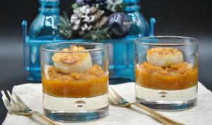 Purée carottes navet et sa Saint-Jacques poêlée