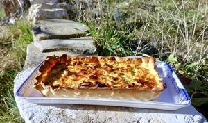 Tarte poireaux et chorizo