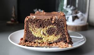 Cake marbré regressif chocolat vanille