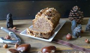Cake noisettes et farine de châtaigne