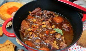 Porc au cidre, courge et marrons