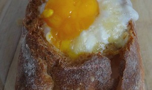 Petits pains farcis aux œufs, bacon et Maroilles