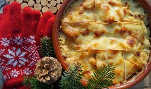 Gratin de pommes de terre et butternut façon savoyarde