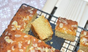 Gâteau d'orient, rose, miel et amande
