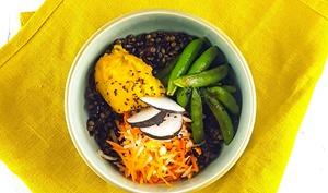 Buddha Bowl tonique et croquant, butternut crémeuse curry-coco