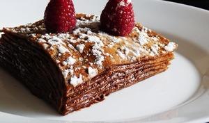 Gâteau de crêpes tout chocolat