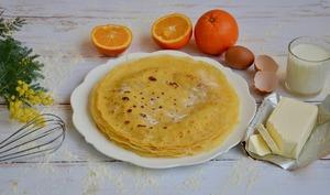 Crêpes aromatisées à l'orange