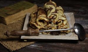 Crêpes marbrées au chocolat et lait d'amande