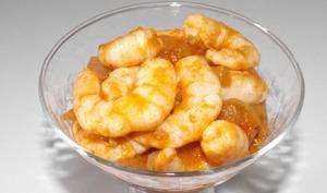 Crevettes à la sauce chili