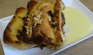 Gâteau de pain perdu à la mangue et aux pépites de chocolat