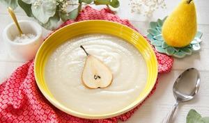 Soupe de céleri rave et poire