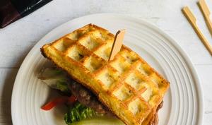 Gaufre-burger