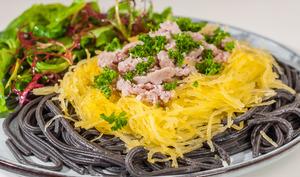 Saucisses aux deux spaghetti