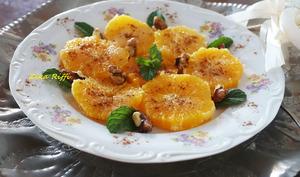 Oranges à la cannelle et fleur d'oranger