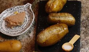 Pommes de terre farcies au foie gras