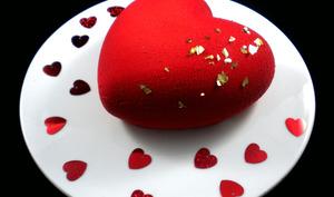 Cœur de Saint-Valentin praliné