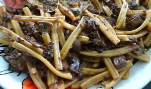 Pâtes aux cèpes et huile aux truffes